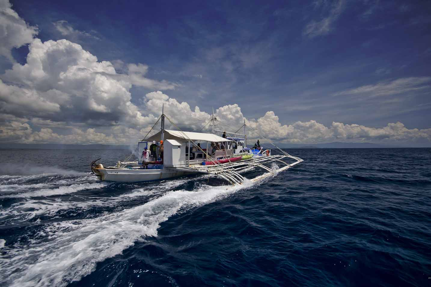 One of our two Banca dive boats